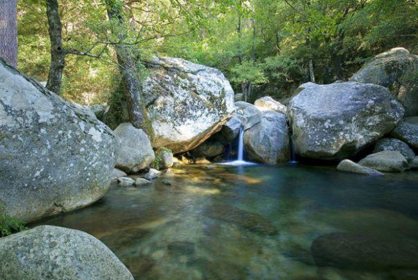 Piscine naturelle en Corse